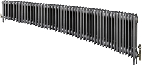 Eastgate Victoriana 3 Column 48 Section Cast Iron Radiator 450mm High x 2924mm Wide - Metallic Finish